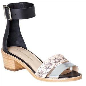 Loeffler Randall Henry Snake Skin Leather Sandals